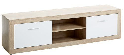 TV-meubel FAVRBO 2 deurs eiken/wit   JYSK