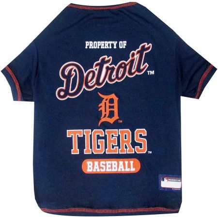 Pets First MLB Detroit Tigers Pet T-shirt, Assorted Sizes, Multicolor