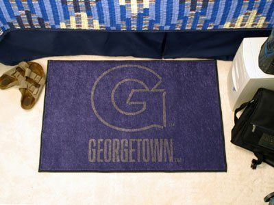 """Georgetown Starter Rug 20""""x30"""" by Fanmats. $13.68. Georgetown Starter Rug 20""""x30""""Decorate your home or office with area rugs by FANMATS. Made in U.S.A. 100% nylon carpet and non-skid recycled vinyl backing. Officially licensed and chromojet printed in true team colors. Please note: These products are custom made. The normal lead time is about 7-10 business days. However, the putting mats and carpet tiles do take a little longer, about 14-21 business days.***This item ..."""