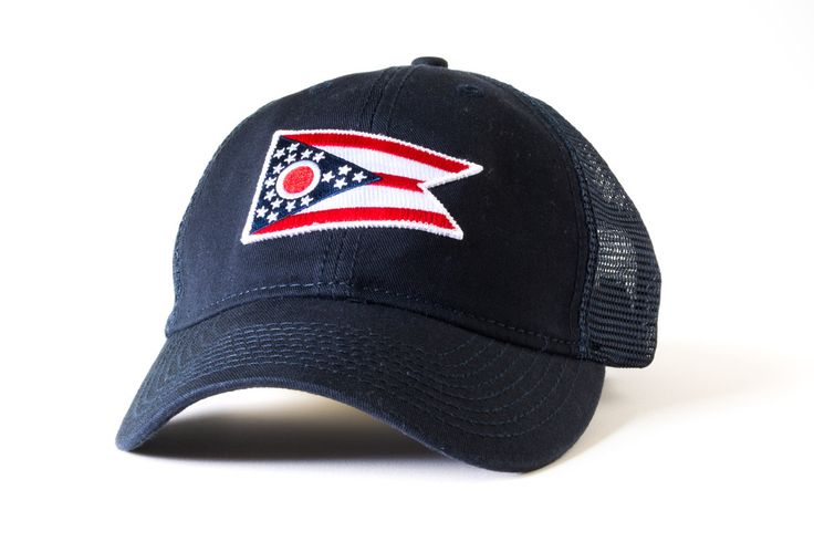 Ohio flag hat, vintage mesh, embroidered patch - Civil Standard | Hats for the Hometown Soul
