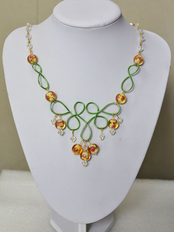 How to Make a Handmade Wire Wrapped Bead Necklace