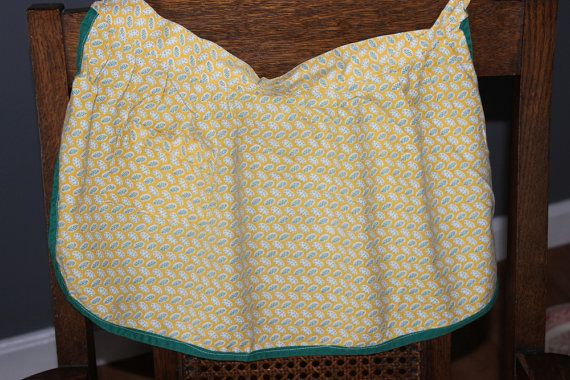 Child's Half Apron Vintage Yellow Print from by AmeliesFarmhouse, $7.50