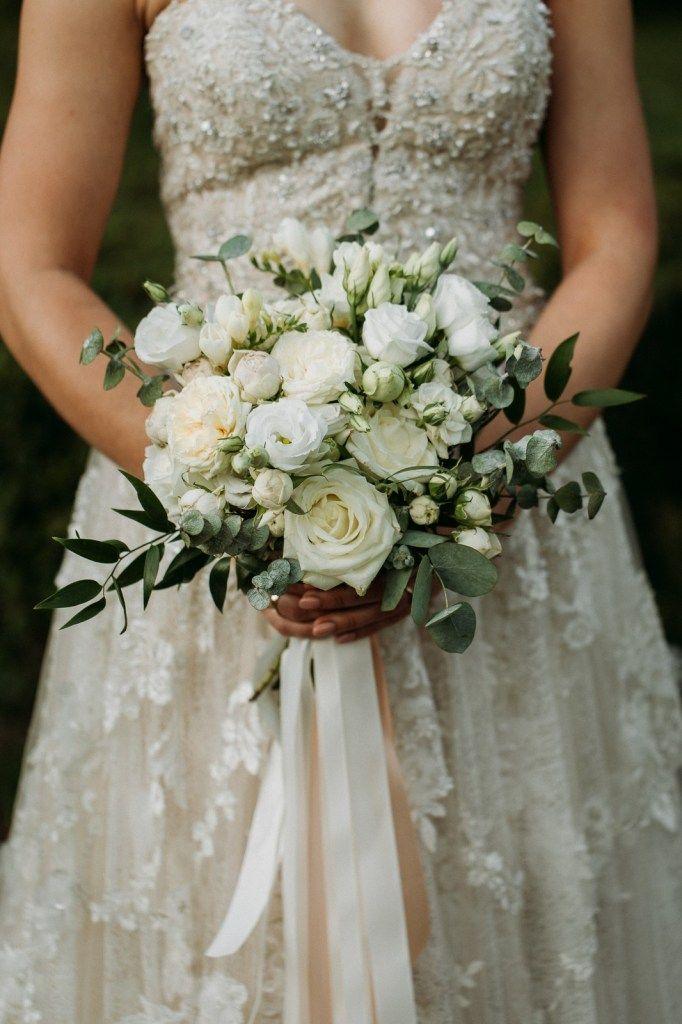 Bukiet Slubny Wedding Bouquet White Green Wedding Bouquets Wedding Wedding Dresses Lace