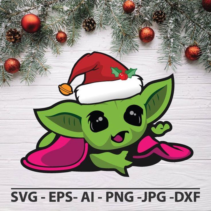 Baby Yoda christmas svg Yoda svg Baby Yoda svg Cricut svg