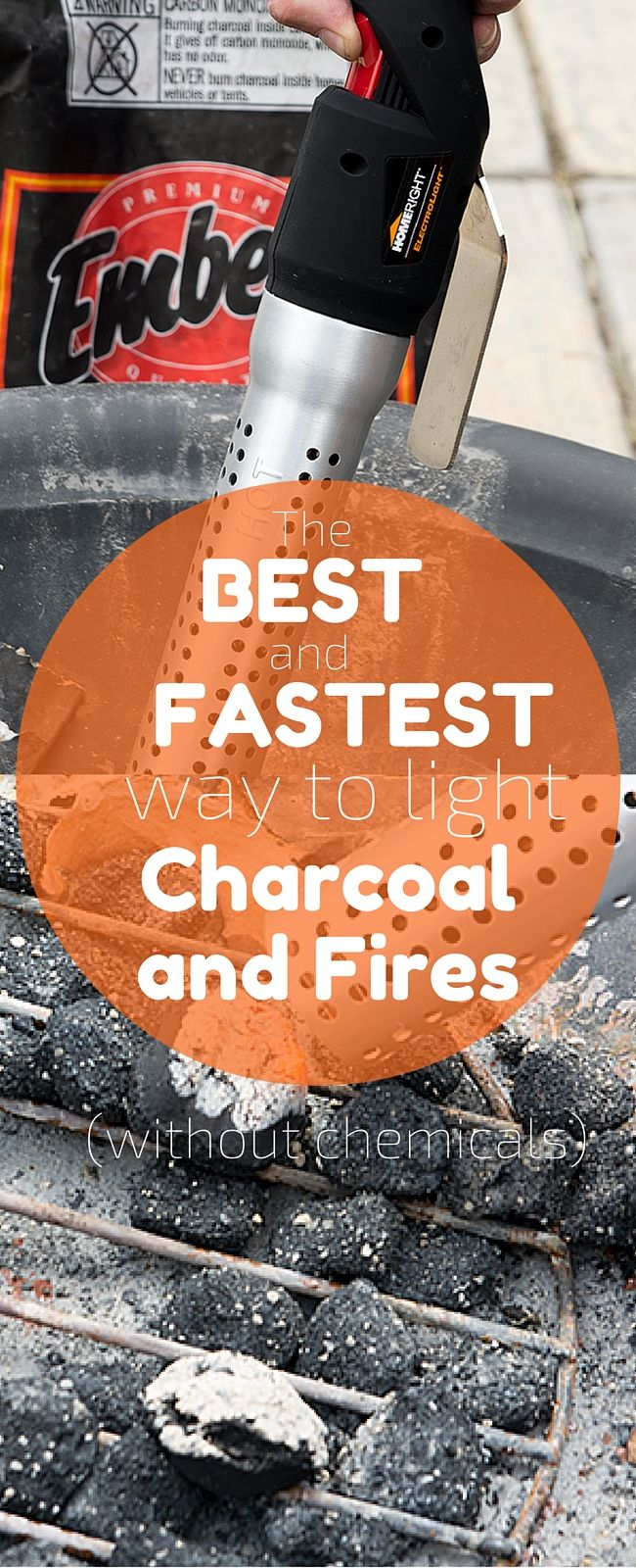 The best and fastest way to light charcoal or start a fire. A must have for any outdoor enthusiast!