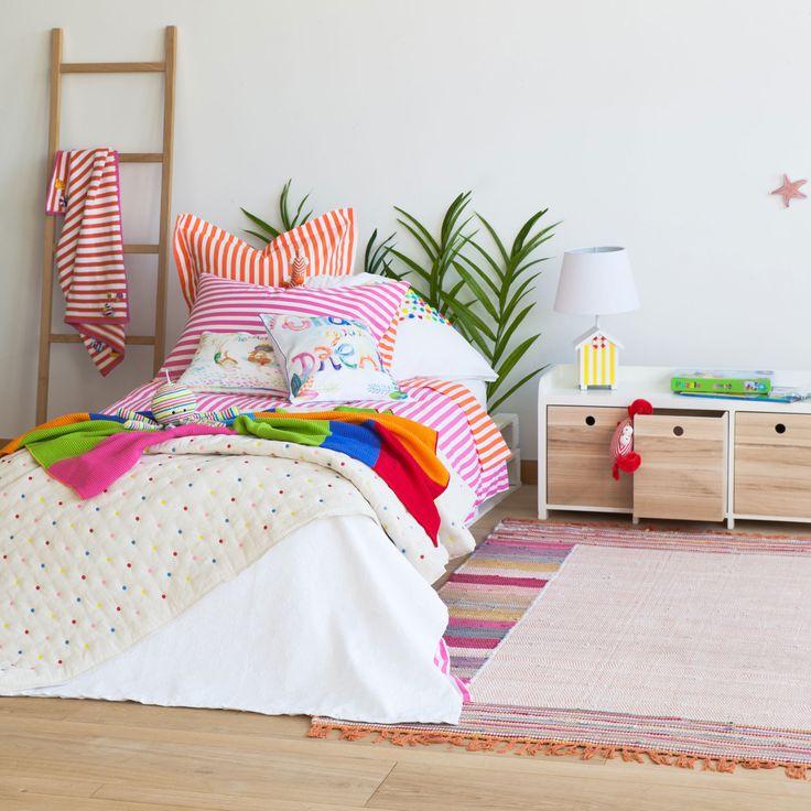 Alfombra algod n colores alfombras decoraci n zara - Alfombras infantiles zara home ...