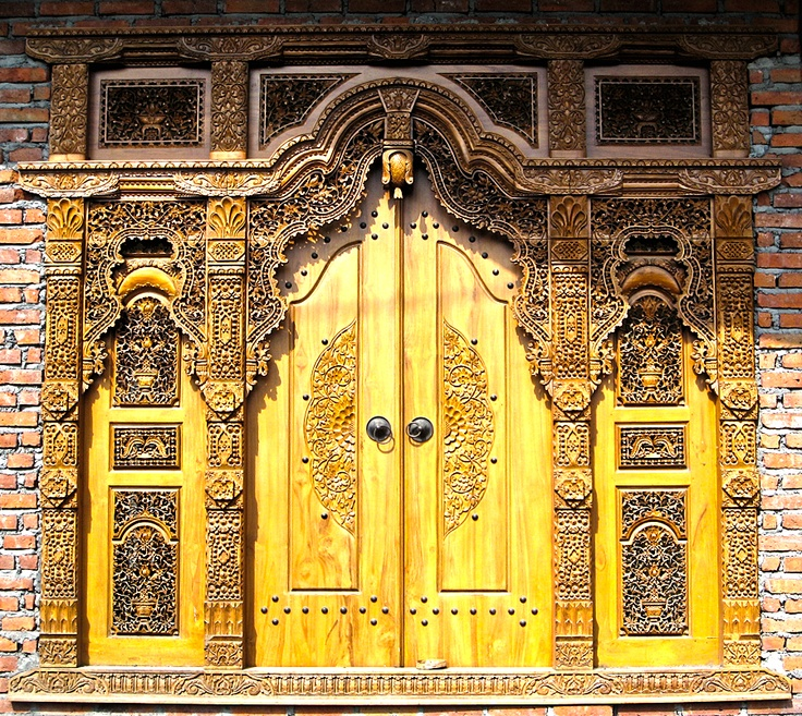 Hand carved wooden door...Bali Indonesia Photo by Mark W. Patterson # & 204 best Bali Doors \u0026 Entrances images on Pinterest   Windows ... Pezcame.Com
