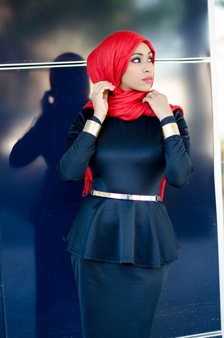 Peplum Maxi Dress | Pinned via HashtagHijab