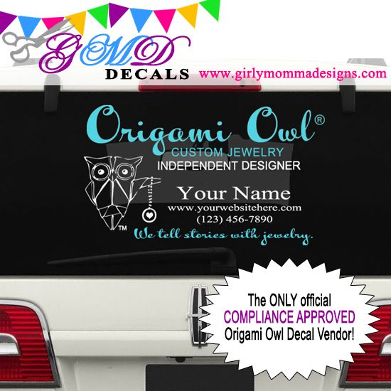 Origami Owl Car Decal
