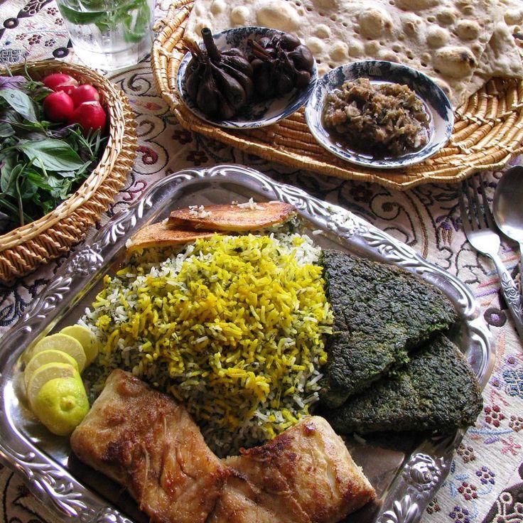 Sabzi Polo Mahi & Kookoo   سبزی پلو ماهی و کوکوی سبزی   Persian Herbed Rice…