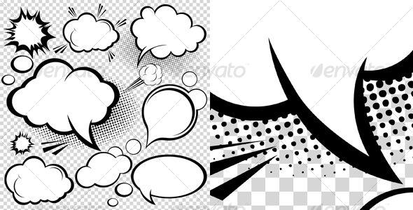Comic Speech Bubbles - GraphicRiver Item for Sale | Comic Art ...