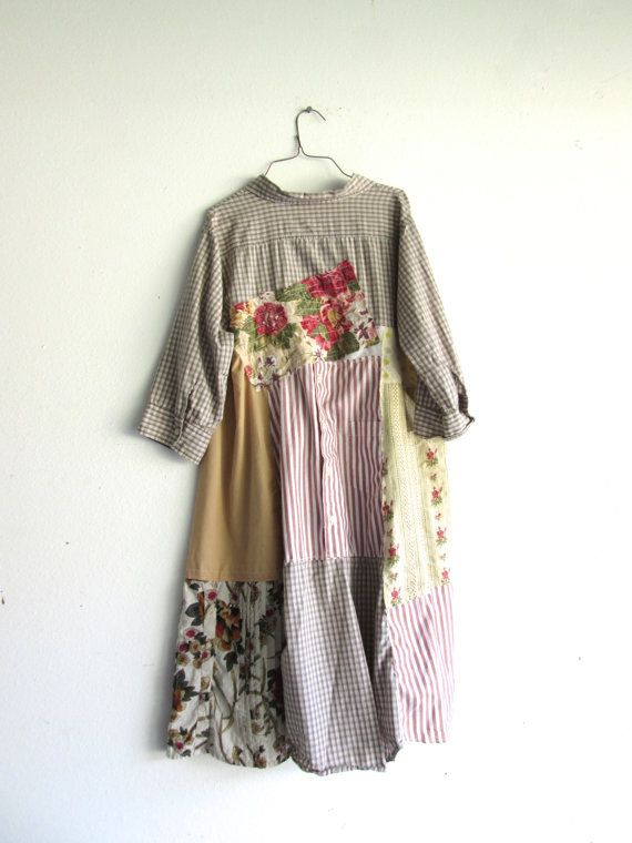upcycled floral robe / romantique Upcycled vêtements par CreoleSha