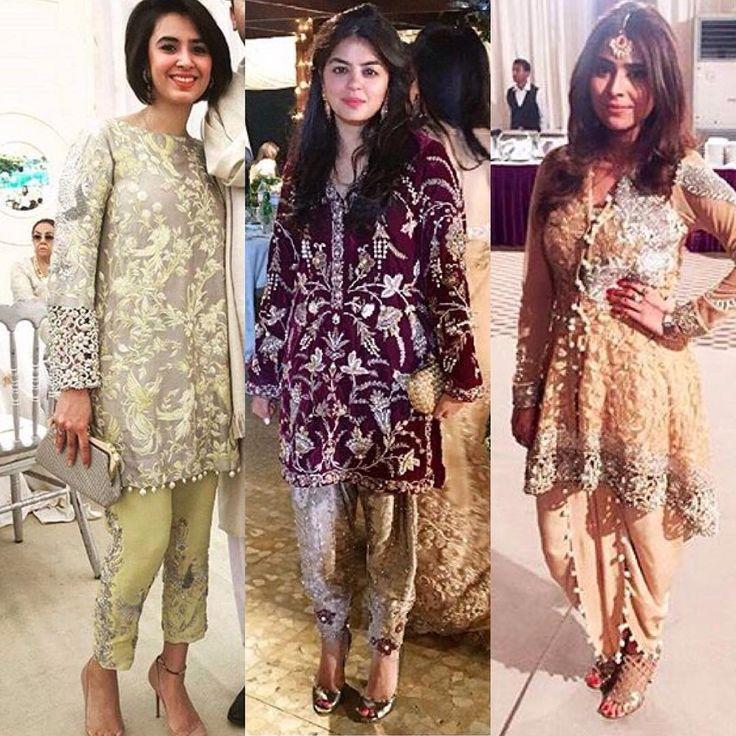 """@nidaazweratelier bringing back short shirts and eye-catching pants this #weddingseason #hellopakistan #stylefiles #pakistanifashion #nidaazweratelier…"""