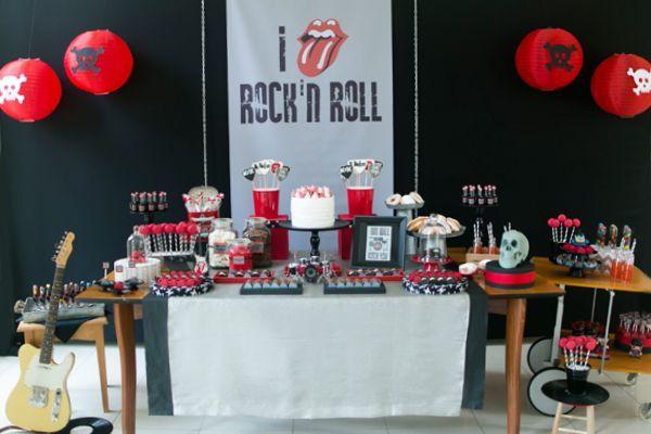 Aniversário com tema rock n'roll