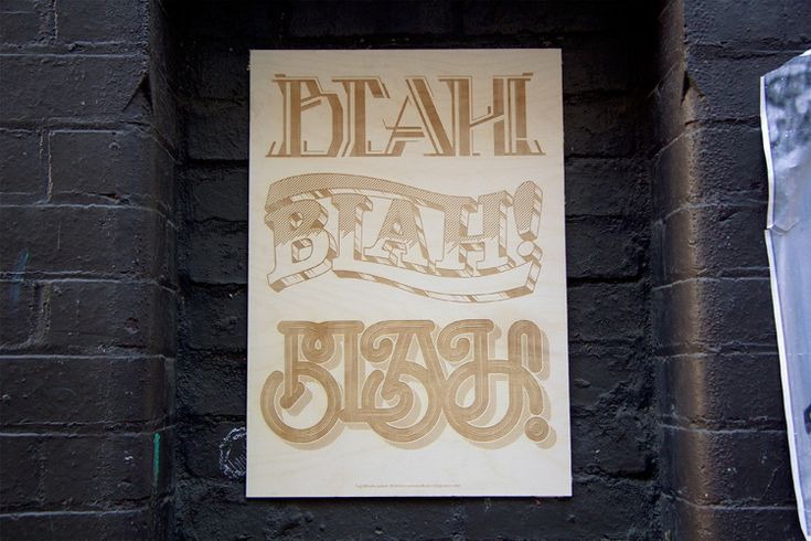 Blah! – The Design Kids Threesome Project - Luke Lucas – Typographer | Graphic Designer | Art Director