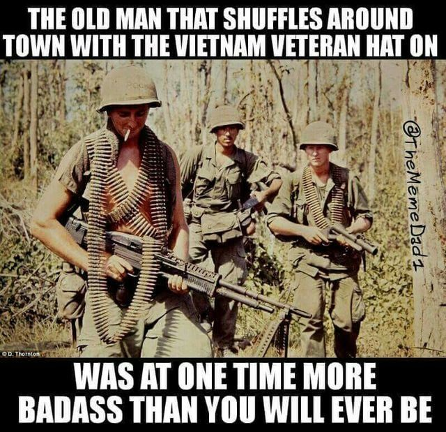 Yes and your liberal grandparents probably spit on him when he came home 50 years ago...something's NEVER CHANGE.