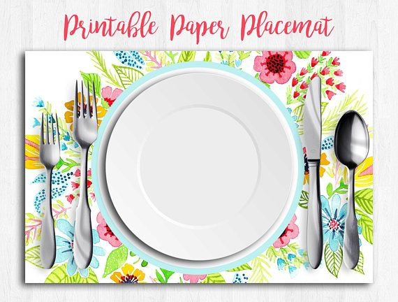 Printable Paper Placemats Placemat Art Birthday Placemat Etsy Printable Paper Instant Download Etsy Art Birthday