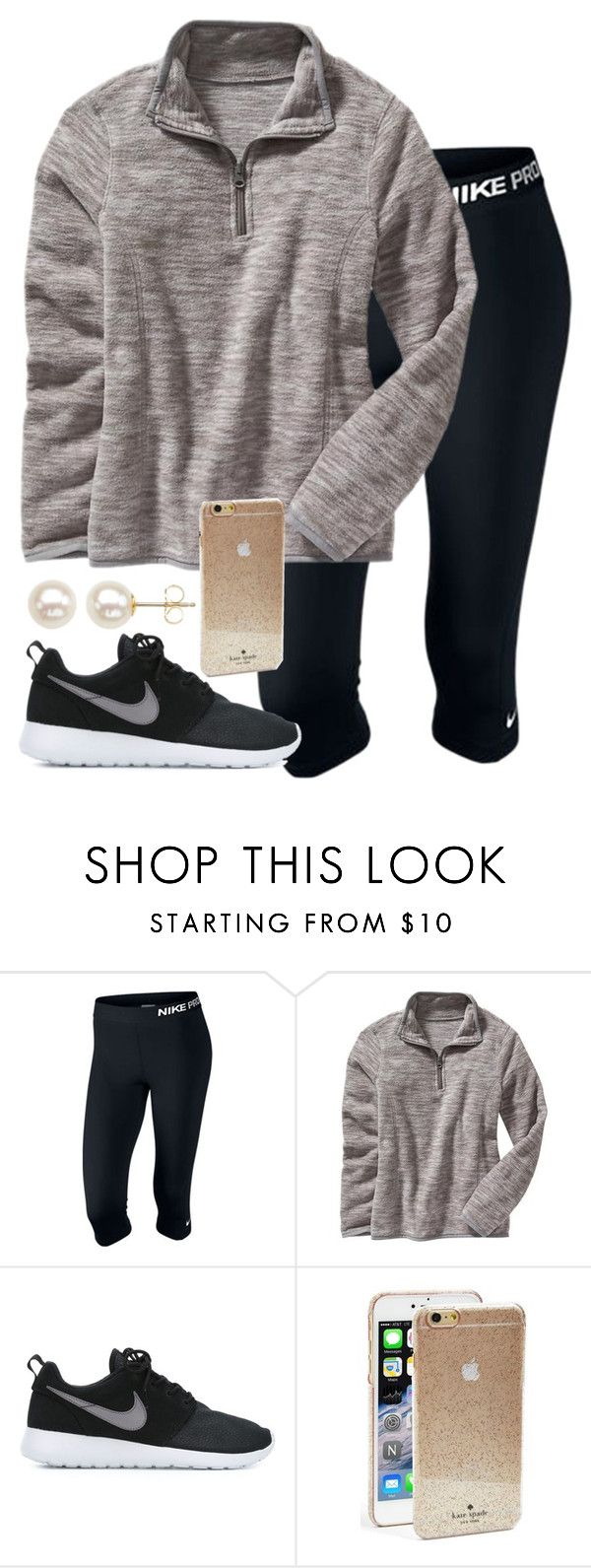 """I am too lazy to add anything else..."" by hgw8503 ❤ liked on Polyvore featuring NIKE, Old Navy, Kate Spade and Honora"