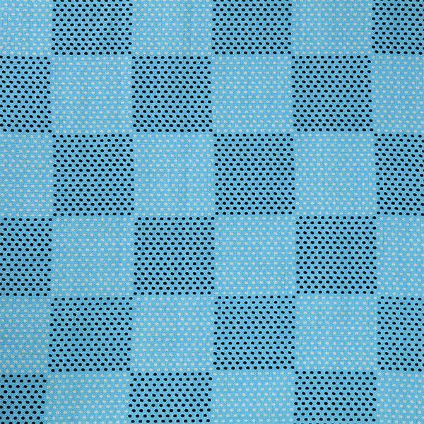 【夏の伝統模様 刺し子×市松(中川政七商店)】/『刺し子×市松』 一針ずつ丁寧に運針して模様をつくる伝統技法の「刺し子」と、江戸時代の歌舞伎役者、初代佐野川市松の衣装から名づけられた「市松」に爽やかなブルーのお色をあわせたテキスタイル。 #japanesetextiles #textile #patterns