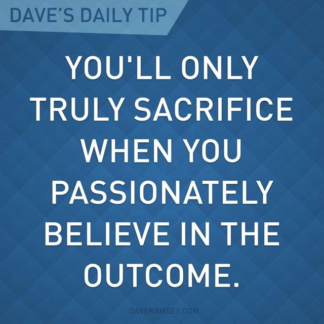 Dave Ramsey Quote. Our Goals...