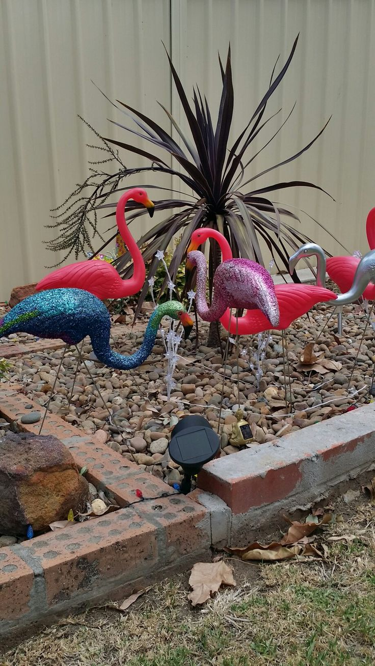 A haven for lawn flamingos of all colours.  Spray paint
