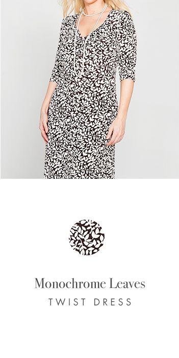 MONOCHROME LEAVES TWIST DRESS http://www.kimco.ca/product/monochrome-leaves-twist-dress/