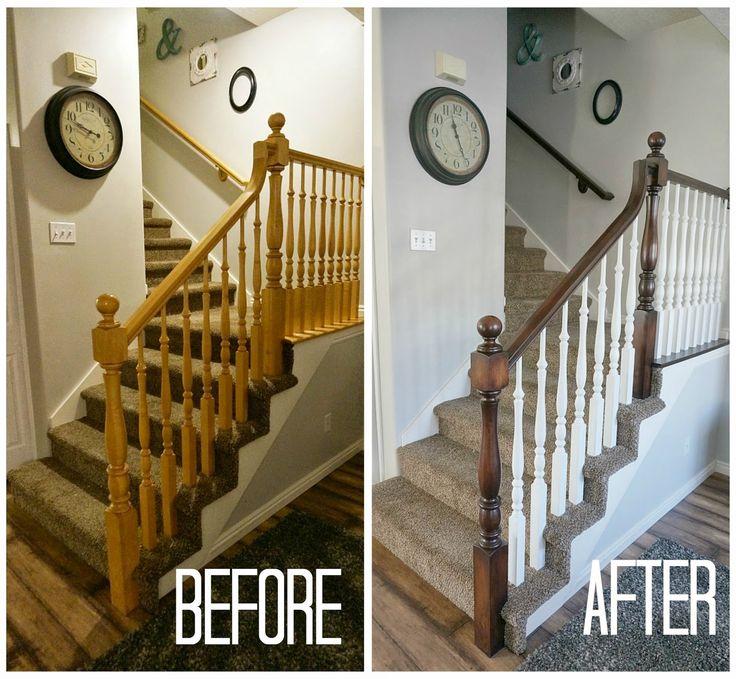 two points for honesty: refinishing oak stair railings!