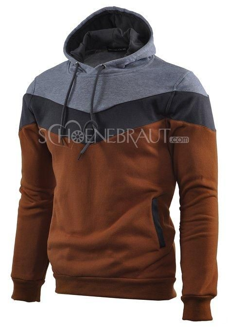 Herren Color Block Hoodies Fleece Kapuzenpullover Kapuzenpulli [#UD9118] - schoenebraut.com