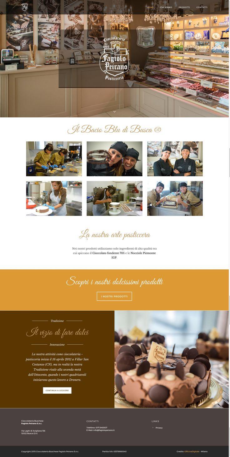 Sito web della Cioccolateria e Pasticceria Fagiolo Peirano. #WebDesign #WordPress