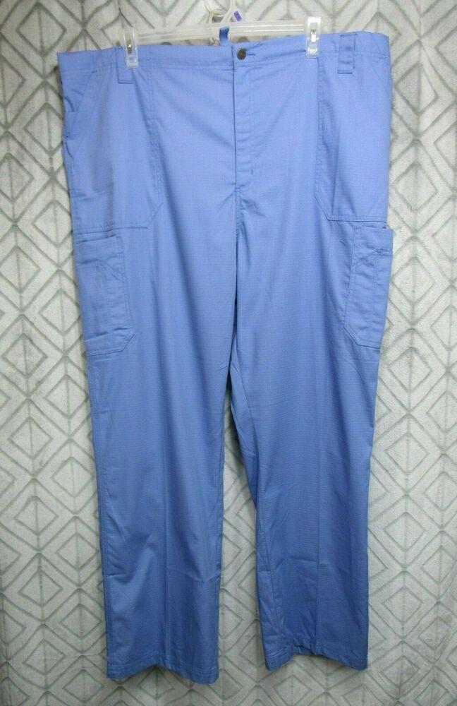 64677ff60be New Carhartt Mens Scrub Pants Tall Size 3X Blue Ripstop Triple Stitching  Career #Carhartt