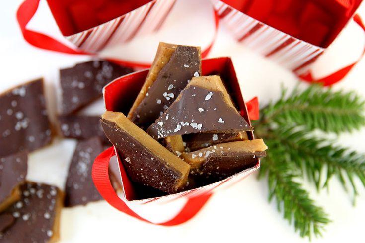 Presente de Natal caseiro: bombom de chocolate com sal marinho