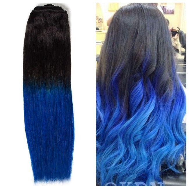 Cu Extensiile din Colectia BelHer 2016 - Clip-On Ombre Brunet/ Albastru din Par Natural Remy veti obtine un look wow!  #belher #extensiibelher #belherbucuresti #magazinextensiibucuresti #extensiionbre #hair