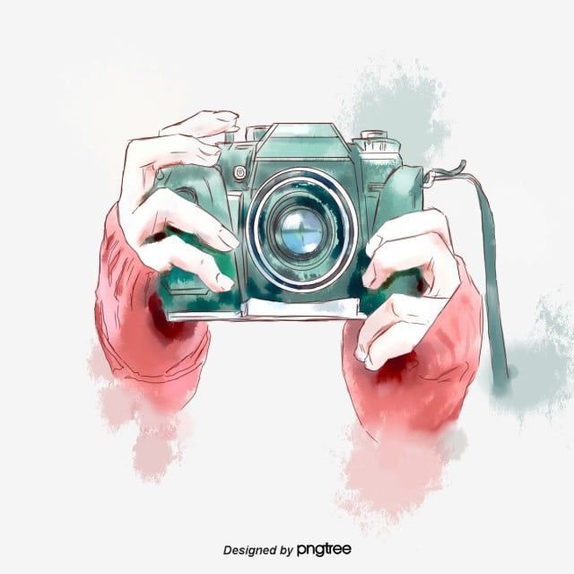 Hand Painted Watercolor Green Camera Hand Elements Hand Clipart Camera Slr Camera Png Transparent Clipart Image And Psd File For Free Download Camera Drawing Art Camera Art Camera Painting