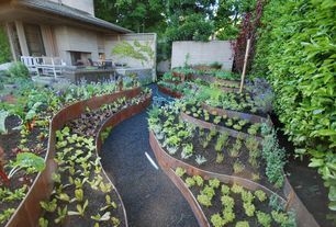 Eclectic Landscape/Yard with exterior stone floors, EverEdge Lawn Edging…