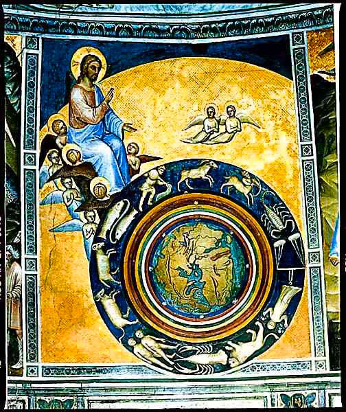Creation of the world by GIUSTO de Menabuoi, 1376-78