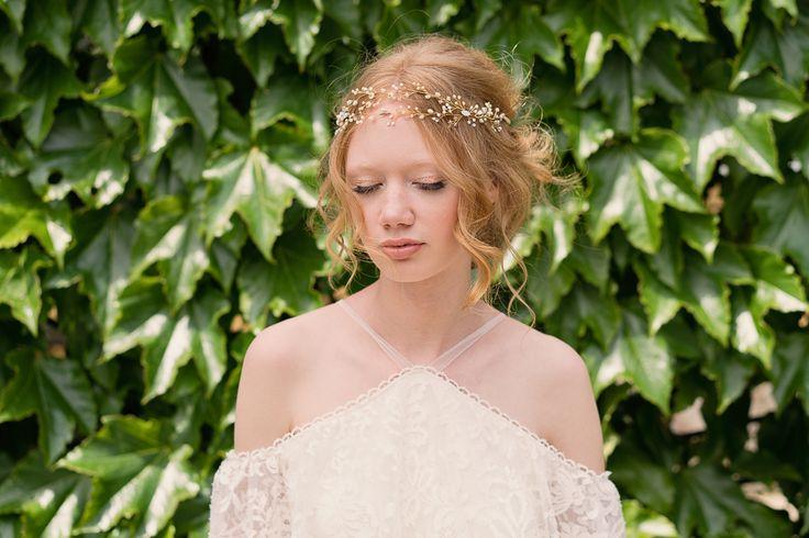 Secret Spell hairvine in bridal styling