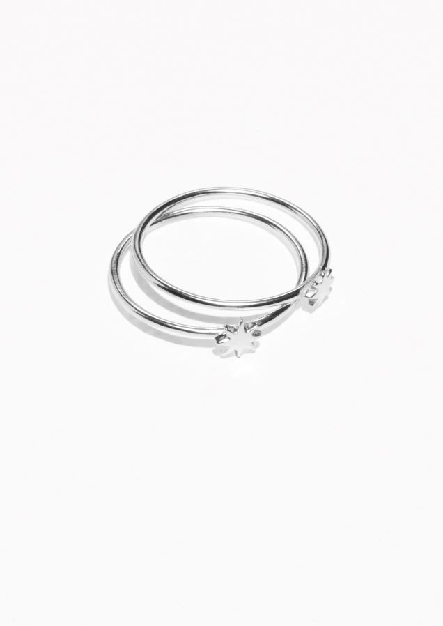 & Other Stories Stacked Star Ring in Silver