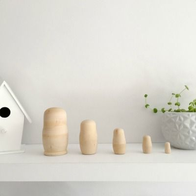 Nesting Dolls in natural wood, available at Tiger Lily Tots