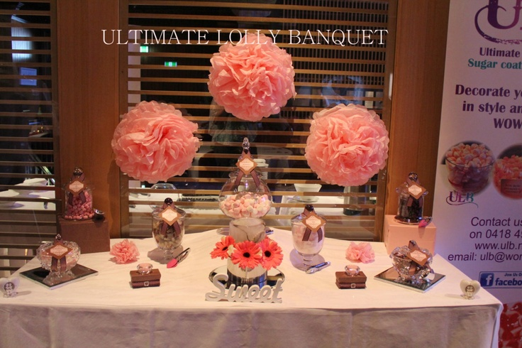 Pink & Brown Wedding Lolly Buffet http://www.facebook.com/UltimateLollyBanquet/photos_albums#!/photo.php?fbid=588346587862766=a.588346384529453.1073741833.459387860758640=3