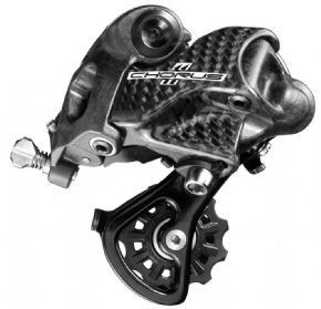 Campagnolo Chorus 11 Speed Rear Derailleur Chorus 11-speeds shifting precision is comparable to its older Record and Super Record siblings.The design and geometry of the rear derailleur are exactly the same. The only difference lies in the mat http://www.MightGet.com/february-2017-1/campagnolo-chorus-11-speed-rear-derailleur.asp