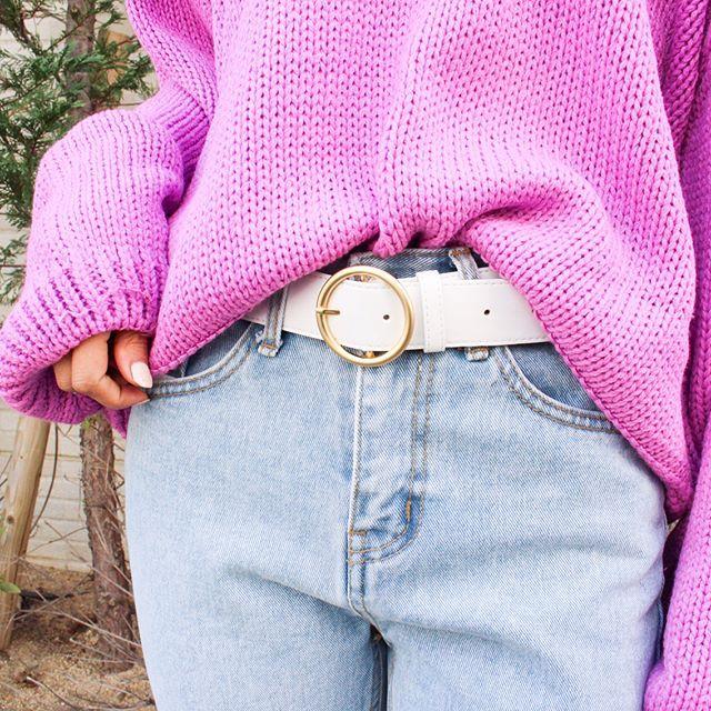 **Todays NEW…♡*✔︎ゴールドリングベルト✔︎折り返しデニム✔︎天然石ブレス***#MODEROBE #リングベルト#デニム #天然石 #ブレス