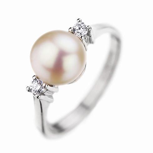 #Bijuterii cu perle Inel de logodna cu diamant CORIOLAN DR163