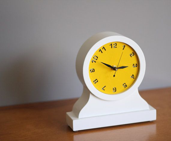 Modern mantel clock  desktop clock by uncommon on Etsy, $69.00. Available in 8 other colors.