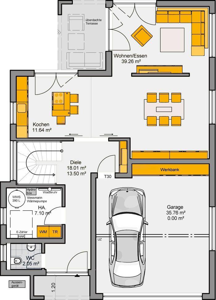 Cute Sie suchen ein Zuhause mit viel Platz f r die Familie Das und mehr bietet das Architekten Haus Varano ein Fertighaus von B denbender Hausbau