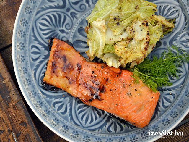 Mustáros-mázas grillezett lazac - Receptek | Ízes Élet - Gasztronómia a mindennapokra
