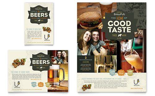 Brewery & Brew Pub Flyer & Ad