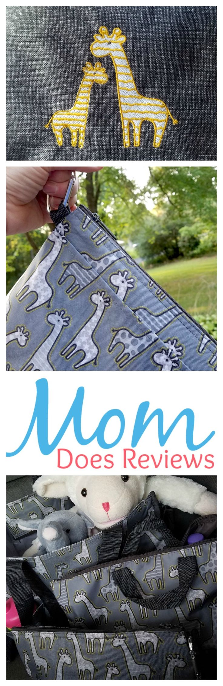 Thirty-One has also noticed the love for giraffes that has exploded this year. They have come out with an absolutely adorable giraffe print. How fitting is it that the print is used on their bags for babies!?!