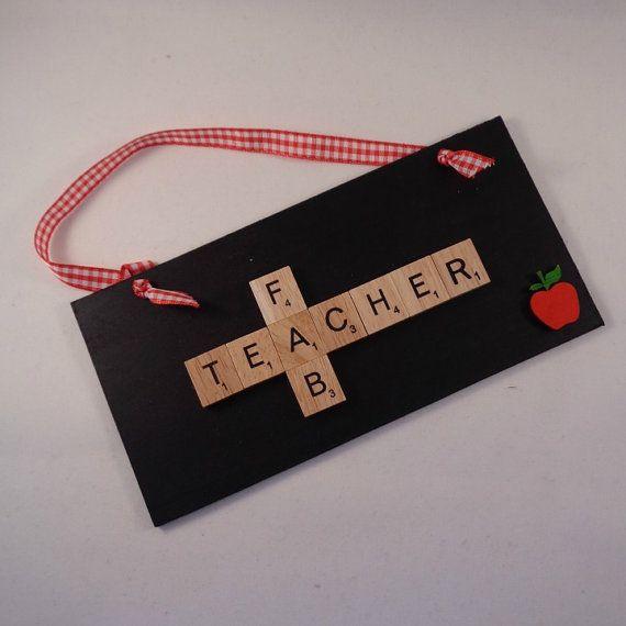 Fab Teacher wooden plaque Gift for teacher by MooseintheMint