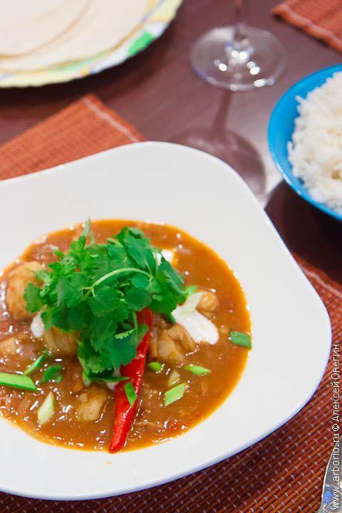 Фото к рецепту Индийское карри из рыбы