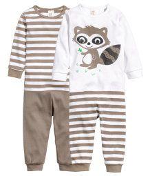 Pack de 2 pijamas de punto
